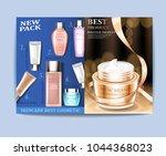 cosmetic magazine design. best... | Shutterstock .eps vector #1044368023