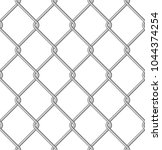 isolated metal wire mesh ... | Shutterstock .eps vector #1044374254