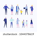 children and adults   flat... | Shutterstock .eps vector #1044378619