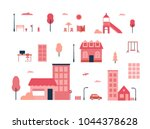 city elements   flat design... | Shutterstock .eps vector #1044378628