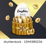 happy easter sale luxury... | Shutterstock .eps vector #1044380236