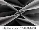 angular girders with glass... | Shutterstock . vector #1044381430