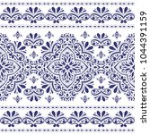 blue and white ornamental... | Shutterstock .eps vector #1044391159