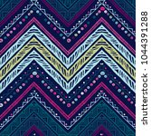 seamless ethnic zigzag chevron... | Shutterstock .eps vector #1044391288