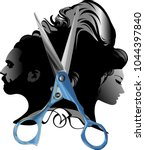 beauty hair salon man woman...   Shutterstock .eps vector #1044397840