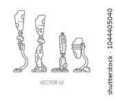 bionic robot leg prosthesis... | Shutterstock .eps vector #1044405040