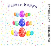 easter happy  easter greeting... | Shutterstock .eps vector #1044406228