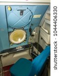 Small photo of COVENTRY, WARWICKSHIRE, UK – JANUARY 28, 2017: Royal Air Force Hawker Siddeley Nimrod MR2 XV232 during an open day event at Coventry Airport. Detail of internal crew positions within the aircraft.