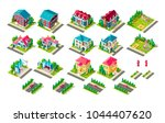 set vector isolated isometric... | Shutterstock .eps vector #1044407620