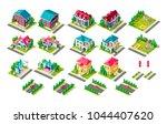 set vector isolated isometric... | Shutterstock .eps vector #1044407620