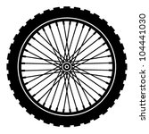 Vector Bike Wheel Black...