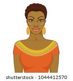 african woman. vector... | Shutterstock .eps vector #1044412570