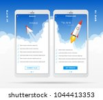 mobile app design template for...