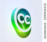 creative commons icon on the... | Shutterstock . vector #1044416113