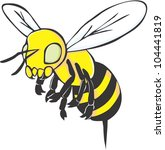 creative bee illustration | Shutterstock . vector #104441819