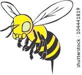 creative bee illustration | Shutterstock . vector #104441819