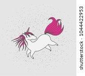 cute magical unicorn. hand...   Shutterstock .eps vector #1044422953