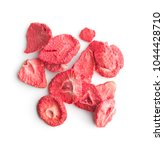 freeze dried strawberry slices... | Shutterstock . vector #1044428710
