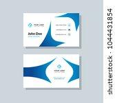 modern business card template... | Shutterstock .eps vector #1044431854