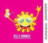 hello summer rock n roll vector ... | Shutterstock .eps vector #1044440599