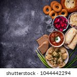 traditional russian food.... | Shutterstock . vector #1044442294