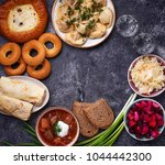 traditional russian food.... | Shutterstock . vector #1044442300