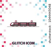 train or tram  glitch effect... | Shutterstock .eps vector #1044445048