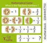 mathematical educational tasks...   Shutterstock .eps vector #1044445753