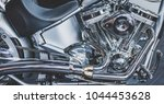 cropped image of new motorcycle ... | Shutterstock . vector #1044453628