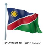namibia flag detail render | Shutterstock . vector #104446130