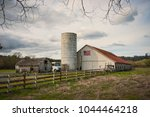 Old Historic Barn And Silo ...