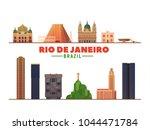 rio de janeiro  brazil ...   Shutterstock .eps vector #1044471784