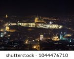 prague castle at night. view... | Shutterstock . vector #1044476710