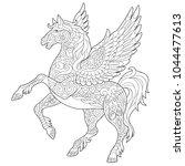 pegasus   greek mythological... | Shutterstock .eps vector #1044477613