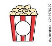 delicious pop corn icon | Shutterstock .eps vector #1044478270