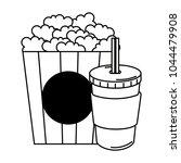 delicious pop corn with soda | Shutterstock .eps vector #1044479908