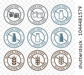 sugar free  dairy free  lactose ...   Shutterstock .eps vector #1044481579