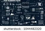 set abstract hud elements for... | Shutterstock .eps vector #1044482320