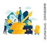 vector illustration of virtual... | Shutterstock .eps vector #1044483898