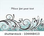 floral background with... | Shutterstock .eps vector #104448413