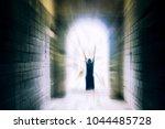 woman  portal  light  death   Shutterstock . vector #1044485728