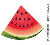 fresh watermelon sliced fruit... | Shutterstock .eps vector #1044486376