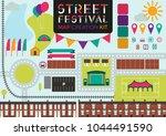 street festival map creation... | Shutterstock .eps vector #1044491590