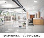 book store interior. 3d... | Shutterstock . vector #1044495259