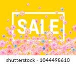 easter sale yellow background... | Shutterstock .eps vector #1044498610