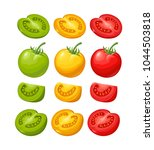 set of hand drawn tomatoes... | Shutterstock .eps vector #1044503818