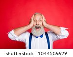 cheerful  full of happiness ... | Shutterstock . vector #1044506629
