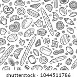 bakery breads  baguettes and... | Shutterstock .eps vector #1044511786
