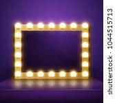 make up mirror with light.... | Shutterstock .eps vector #1044515713