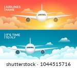 travel airplane tourism vector... | Shutterstock .eps vector #1044515716